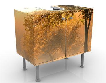 Waschbeckenunterschrank - Herbstmorgen - Badschrank Braun