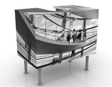 Waschbeckenunterschrank - Im Berliner Reichstag II - Badschrank Weiß Grau