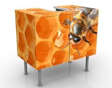 Waschbeckenunterschrank - Honey Bee - Badschrank Orange