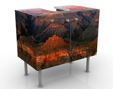 Waschbeckenunterschrank - Canyon nach dem Sonnenuntergang - Badschrank Orange Braun