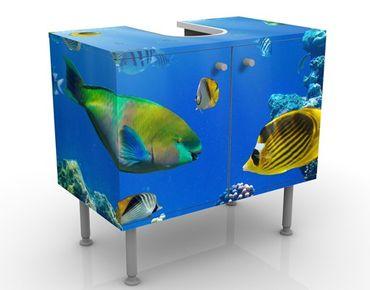 Waschbeckenunterschrank - Underwater Lights - Badschrank Blau
