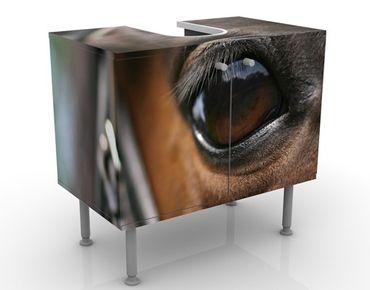 Waschbeckenunterschrank - Horse Eye - Badschrank Braun