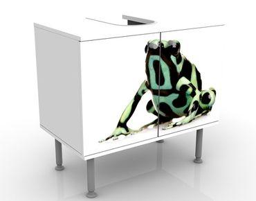 Waschbeckenunterschrank - Zebra Frog - Badschrank Weiß