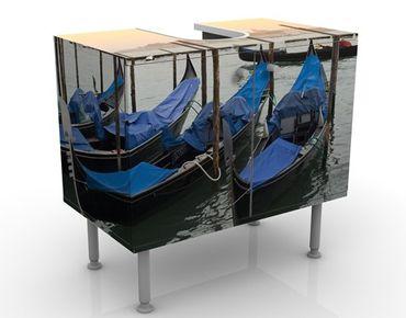 Waschbeckenunterschrank - Venice Dreams - Badschrank Blau