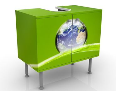 Waschbeckenunterschrank - Grüne Hoffnung - Badschrank Grün