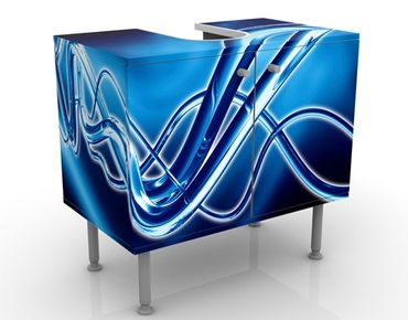 Waschbeckenunterschrank - Equalizer - Badschrank Blau
