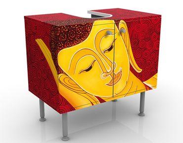 Waschbeckenunterschrank - Taipei Buddha - Badschrank Gelb Rot