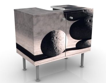 Waschbeckenunterschrank - In Harmony - Badschrank Schwarz Grau