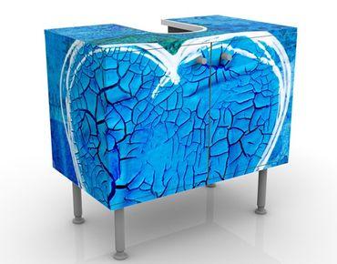 Waschbeckenunterschrank - Terra Azura - Badschrank Blau