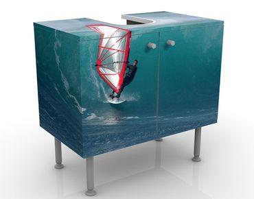 Waschbeckenunterschrank - The Surfer - Badschrank Blau