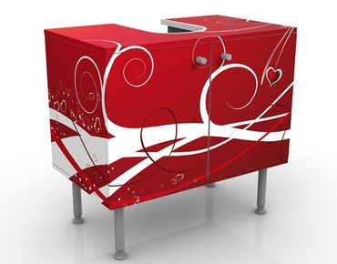 Waschbeckenunterschrank - Ti Amo - Badschrank Rot