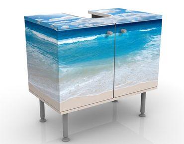 Waschbeckenunterschrank - Touch Of Paradise - Maritim Badschrank Blau