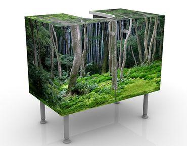 Waschbeckenunterschrank - Japanischer Wald - Badschrank Grün