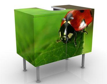 Waschbeckenunterschrank - Lady Bird - Badschrank Rot Grün
