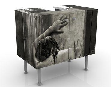 Waschbeckenunterschrank - Tropische Dusche - Badschrank Grau