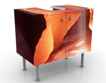 Waschbeckenunterschrank - Lichtschacht im Antelope Canyon - Badschrank Orange