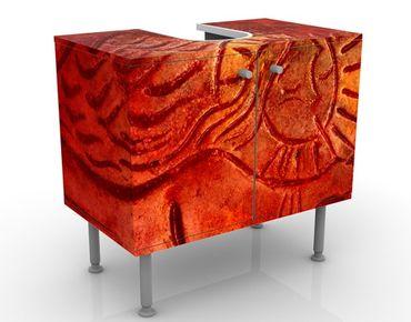 Waschbeckenunterschrank - Liebesengel - Badschrank Orange Rot
