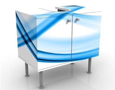 Waschbeckenunterschrank - Blue Element No.2 - Badschrank Weiß Blau