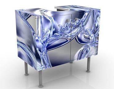Waschbeckenunterschrank - Liquid Smoke - Badschrank Blau