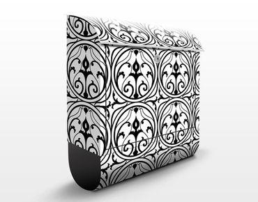 Briefkasten mit Zeitungsfach - Ornamentales Kreisemuster - Wandbriefkasten