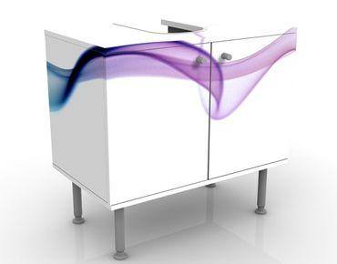 Waschbeckenunterschrank - Swimmer - Badschrank Weiß Rosa