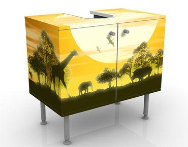 Waschbeckenunterschrank - No.CG9 Savannah Sunset - Badschrank Gelb