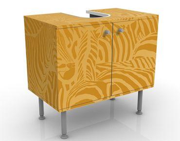 Waschbeckenunterschrank - No.DS5 Zebrastreifen Beige - Badschrank Gelb