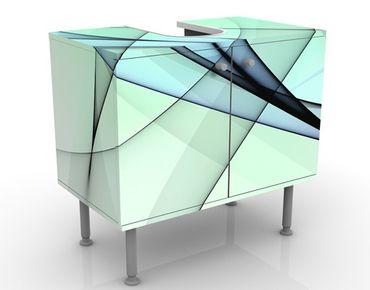 Waschbeckenunterschrank - Evolution - Badschrank Blau