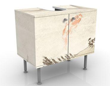 Waschbeckenunterschrank - No.MW8 Japanische Stille - Badschrank Weiß