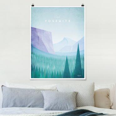 Poster - Reiseposter - Yosemite Park - Hochformat 4:3