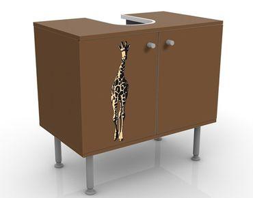 Waschbeckenunterschrank - No.TA1 Giraffe - Badschrank Braun