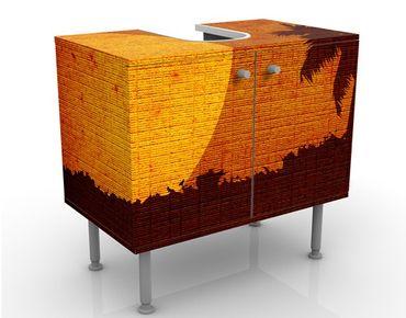 Waschbeckenunterschrank - Sunrise Indochina - Badschrank Orange