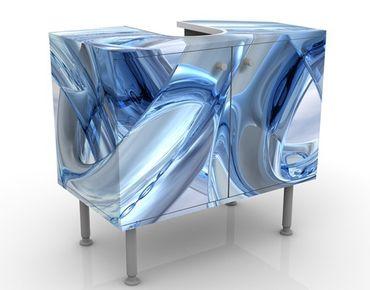 Waschbeckenunterschrank - Frosty Chains - Badschrank Blau