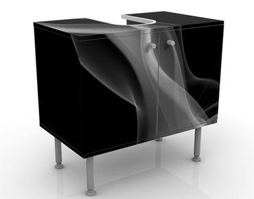 Waschbeckenunterschrank - Silver Smoke - Badschrank Schwarz Grau