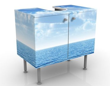 Waschbeckenunterschrank - Shining Ocean - Maritim Badschrank Blau