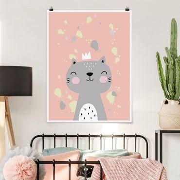 Poster - Freche Katze - Hochformat 3:4