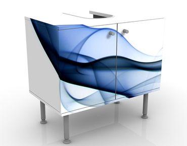 Waschbeckenunterschrank - Sound Of Nature - Badschrank Weiß Blau