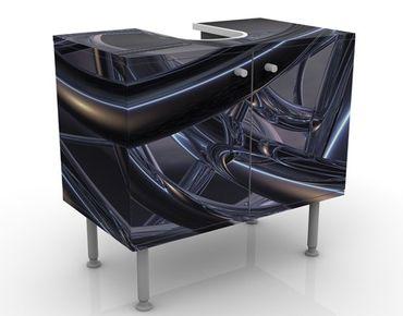 Waschbeckenunterschrank - Space Stitch - Badschrank Schwarz