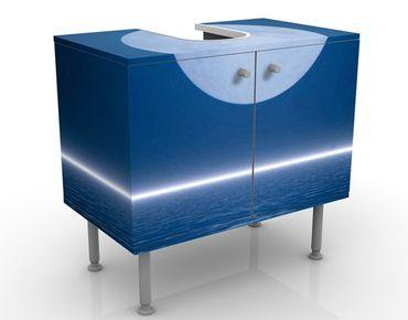 Waschbeckenunterschrank - Silver Moon Rise - Badschrank Blau