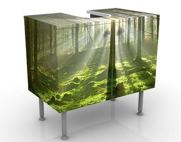 Waschbeckenunterschrank - Spring Fairytale - Badschrank Grün