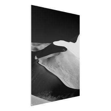 Forex Fine Art Print - Wüste - Abstrakte Dünen - Hochformat 4:3