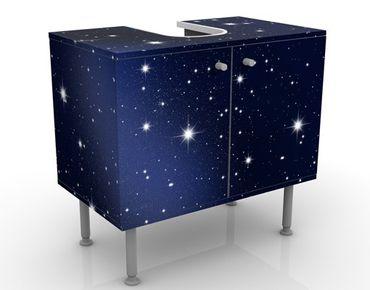 Waschbeckenunterschrank - Stars - Badschrank Schwarz
