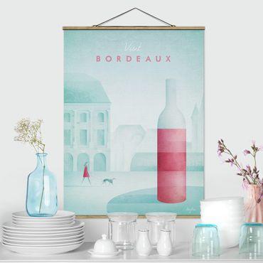 Stoffbild mit Posterleisten - Reiseposter - Bordeaux - Hochformat 4:3
