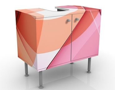 Waschbeckenunterschrank - Miracle Structure - Badschrank Rosa Rot