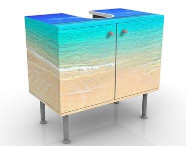 Waschbeckenunterschrank - Paradise Beach I - Maritim Badschrank Blau