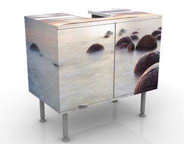 Waschbeckenunterschrank - Moeraki Neuseeland - Maritim Badschrank Weiß