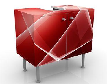 Waschbeckenunterschrank - Red Heat - Badschrank Rot