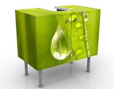 Waschbeckenunterschrank - Morning Dew - Blumen Badschrank Grün