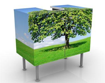 Waschbeckenunterschrank - Panoramic - Badschrank Grün