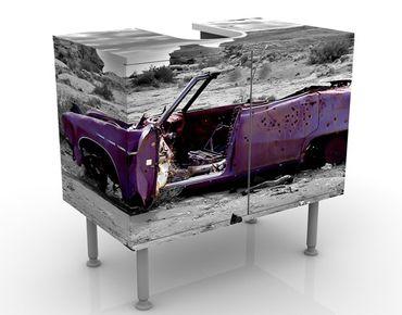 Waschbeckenunterschrank - Pink Cadillac - Vintage Badschrank Grau